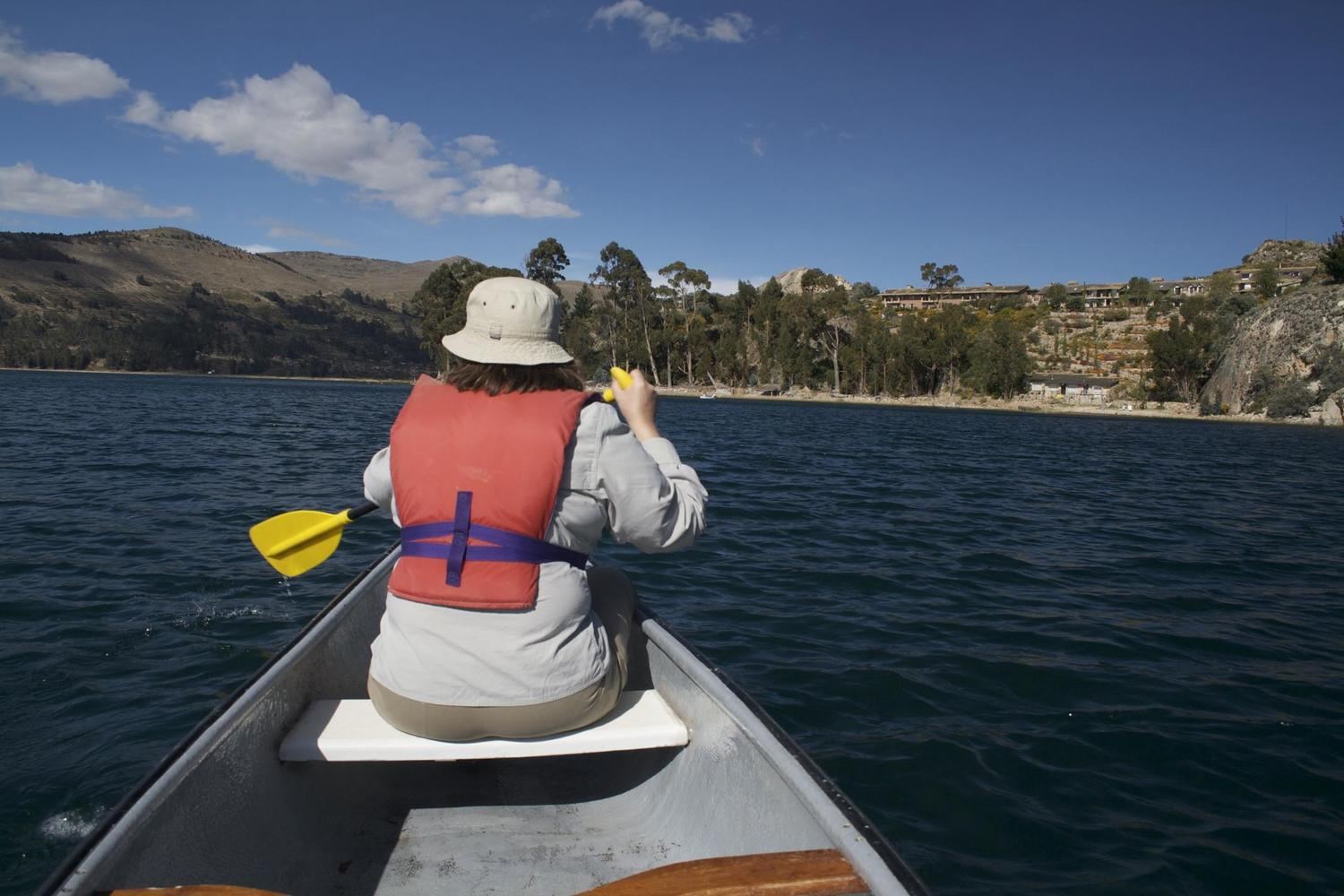 Kayaking around Suasi Island on Lake Titicaca