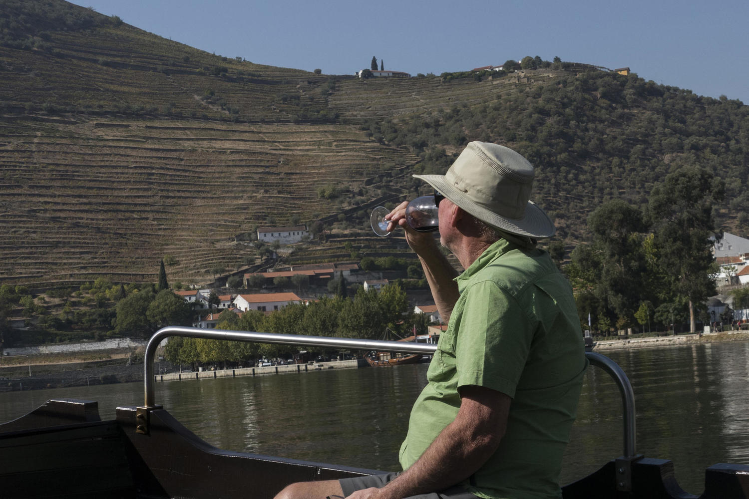 Enjoying a boat ride on the Douro