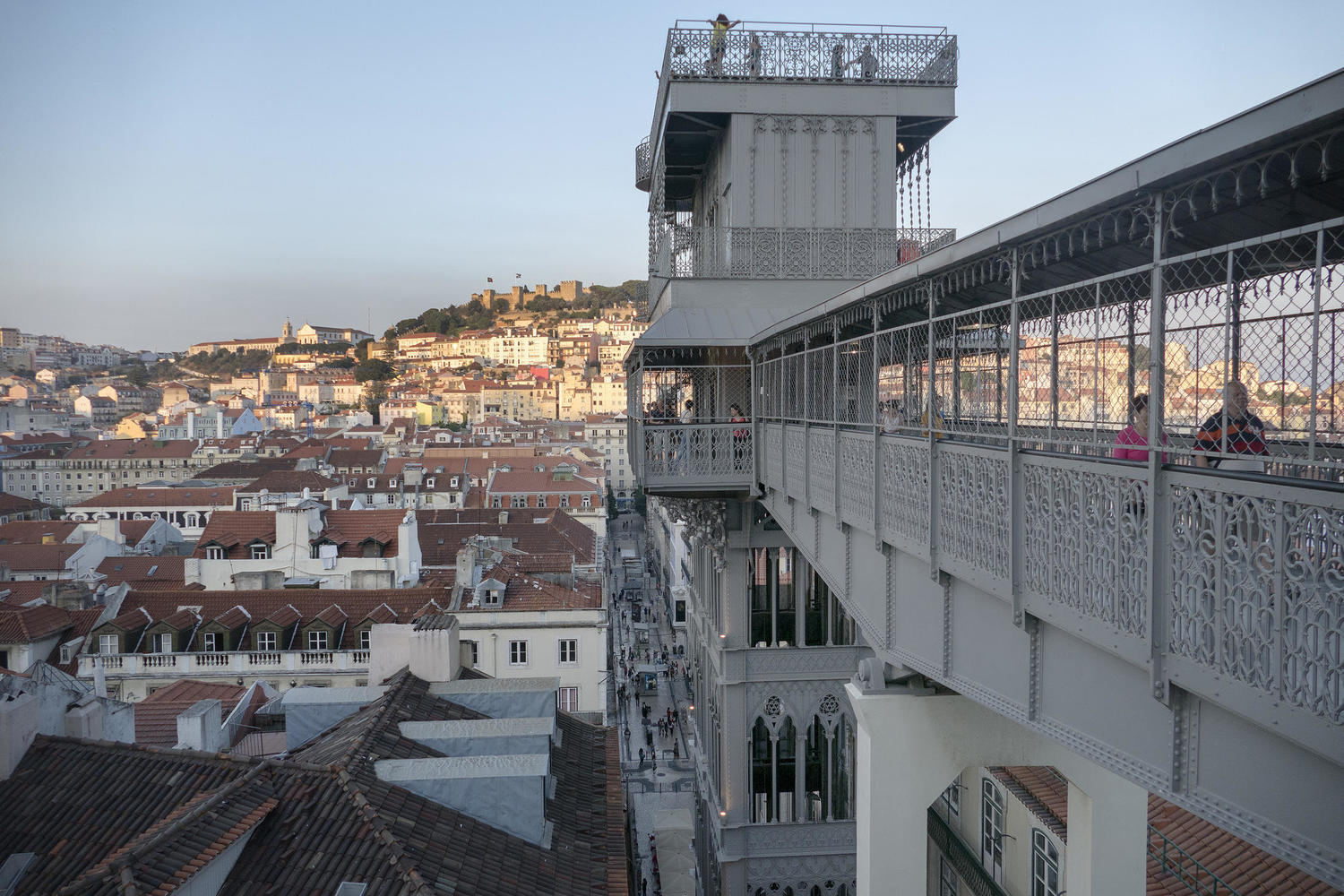 View from the famous Santa Justa Elevator in Lisbon