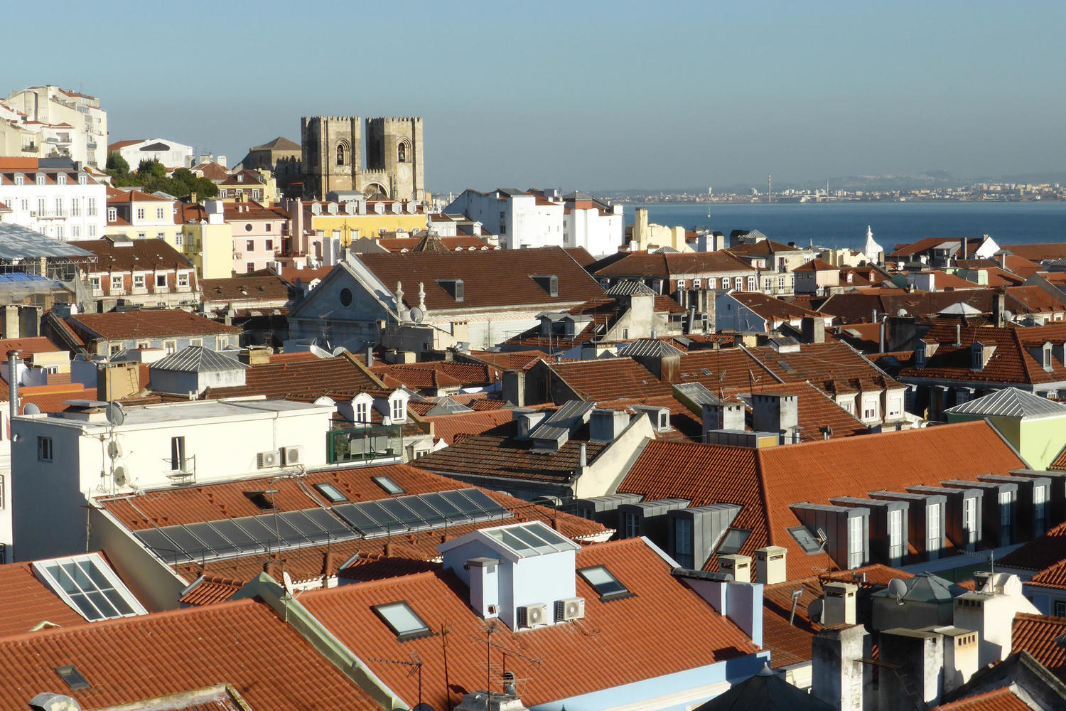 Skyline view over Lisbon
