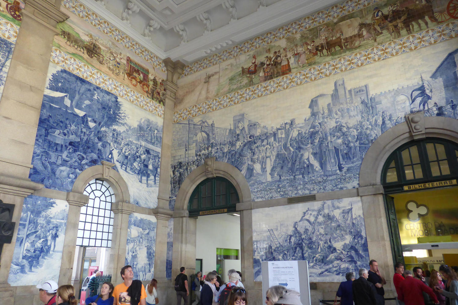 Perhaps the most famous azulejos in Portugal, in the Sao Bento train station