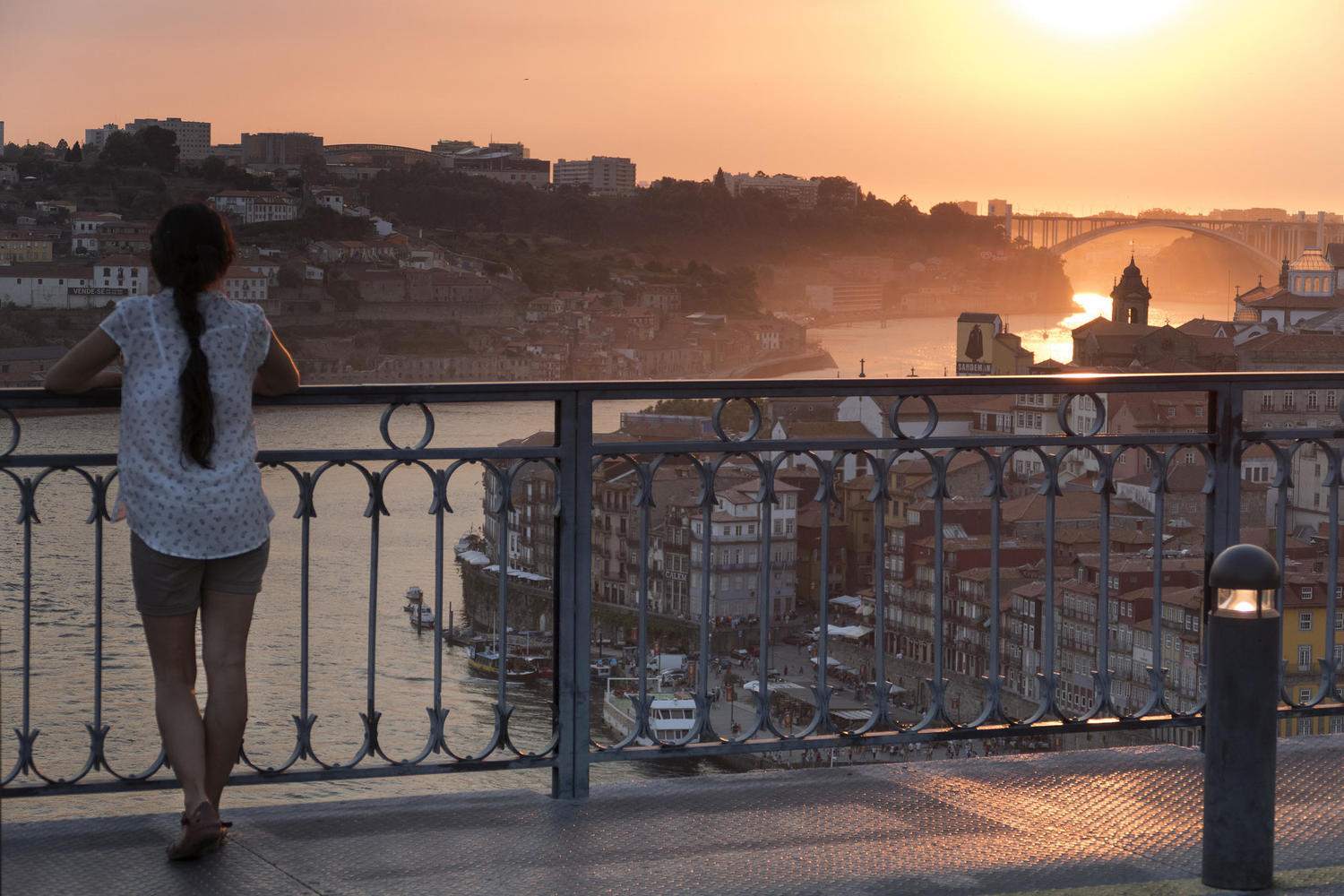 Porto often has wonderful sunsets to enjoy by the river