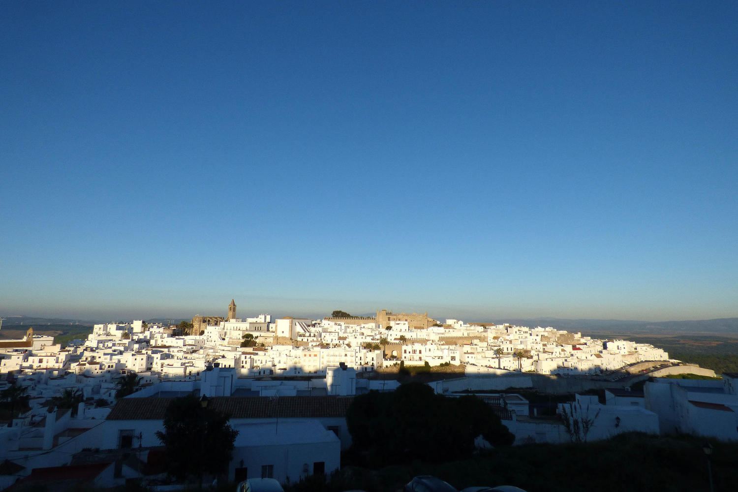 White village and blue sky, the essence of Andalucia. Vejer, Cadiz