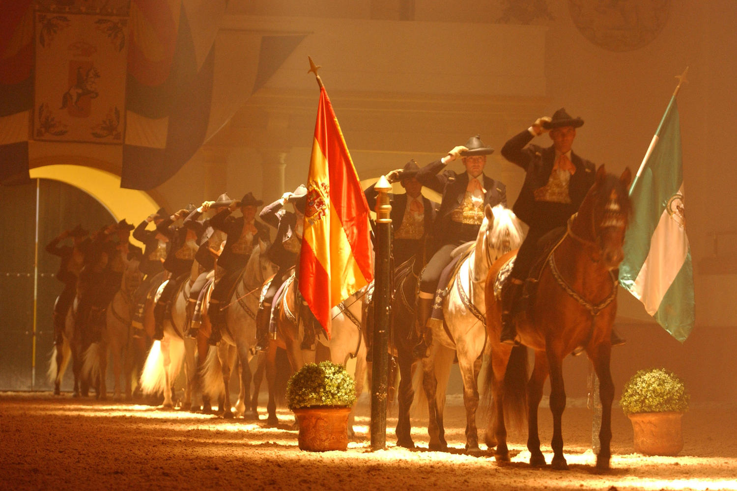 Horse show at the Royal Equestrian School of Jerez