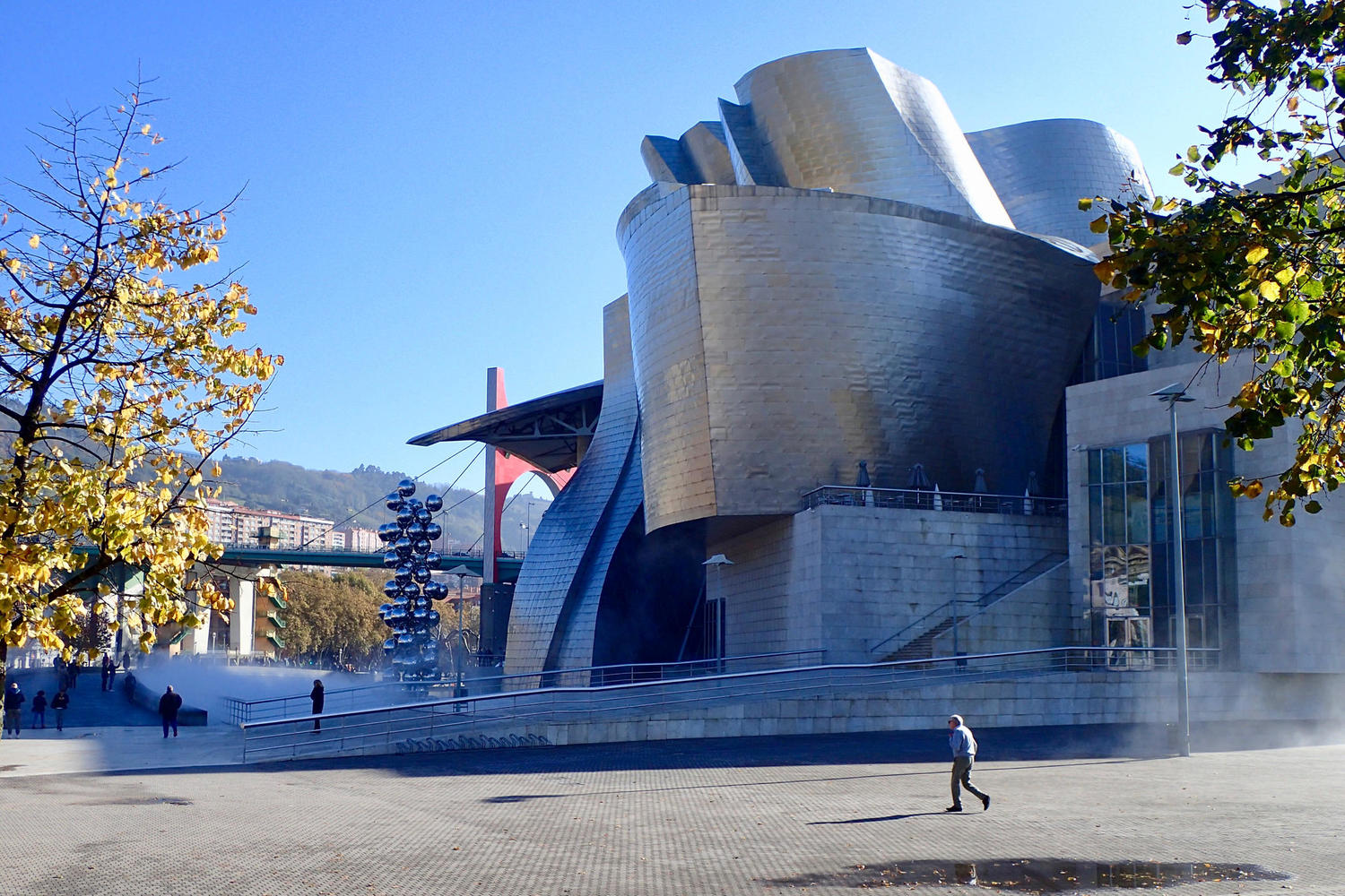 Standing outside the infamous Guggenheim in Bilbao