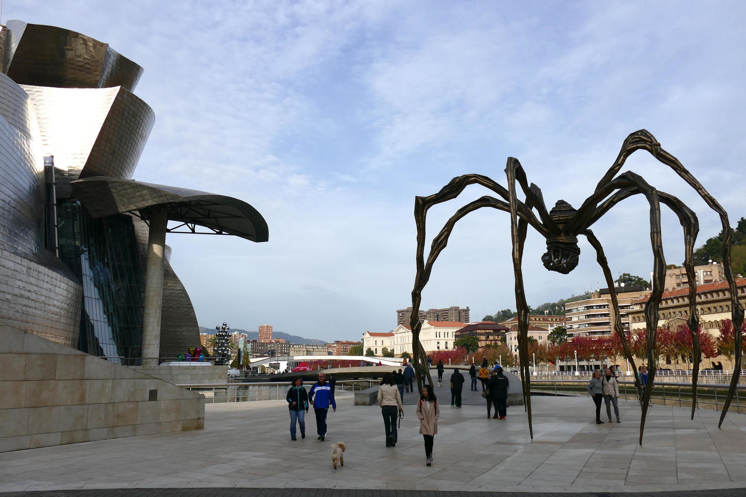 The distinctive spider sculpture outside the Guggenheim