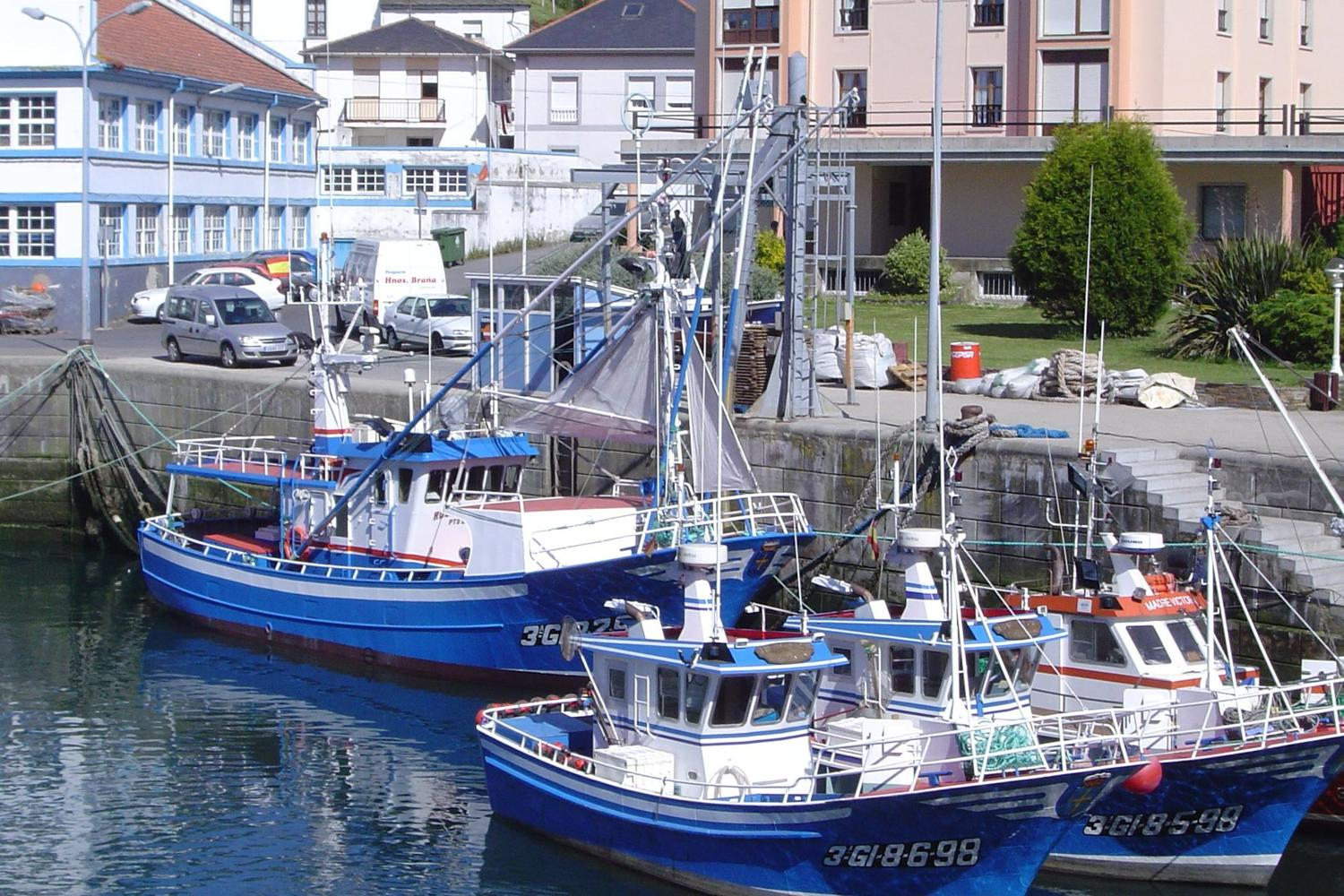 Fishing boats in the harbour of Ribadeo