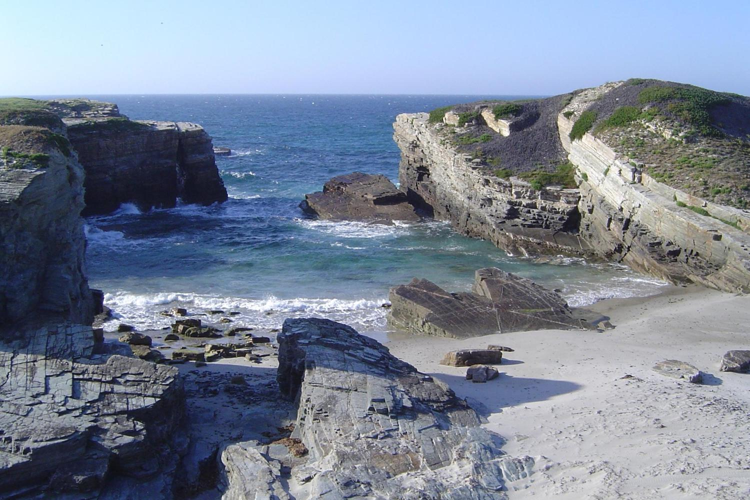 Cathedral beach in Galicia