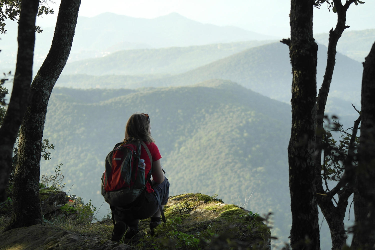 Overlooking the volcanoes of Garrotxa