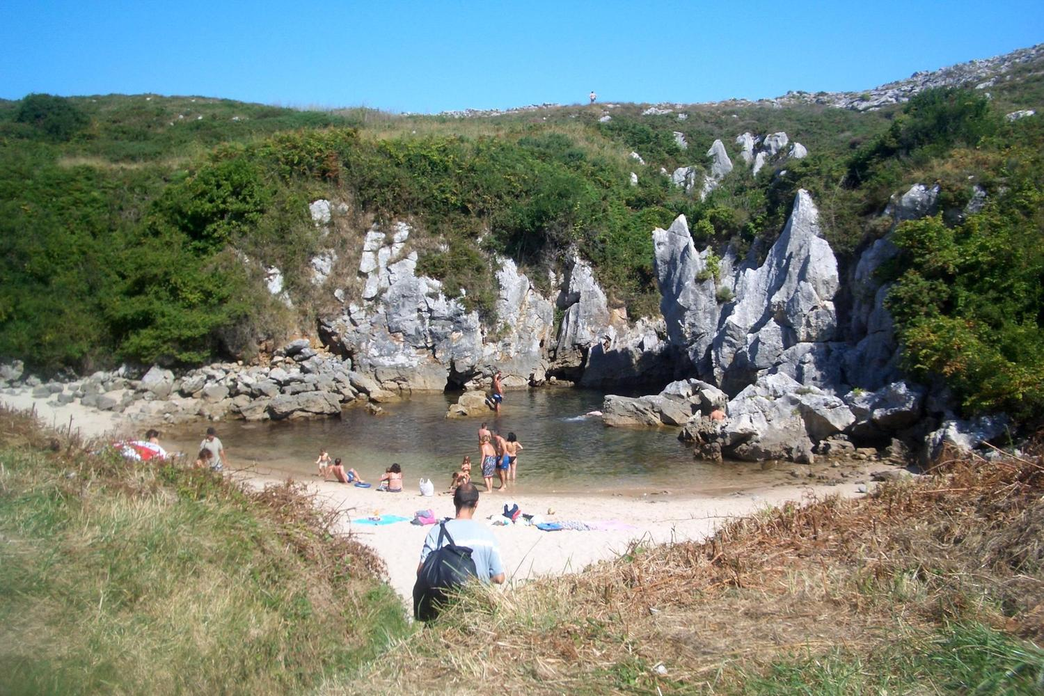 The secret 'beach in a meadow' on the coast of the Picos de Europa