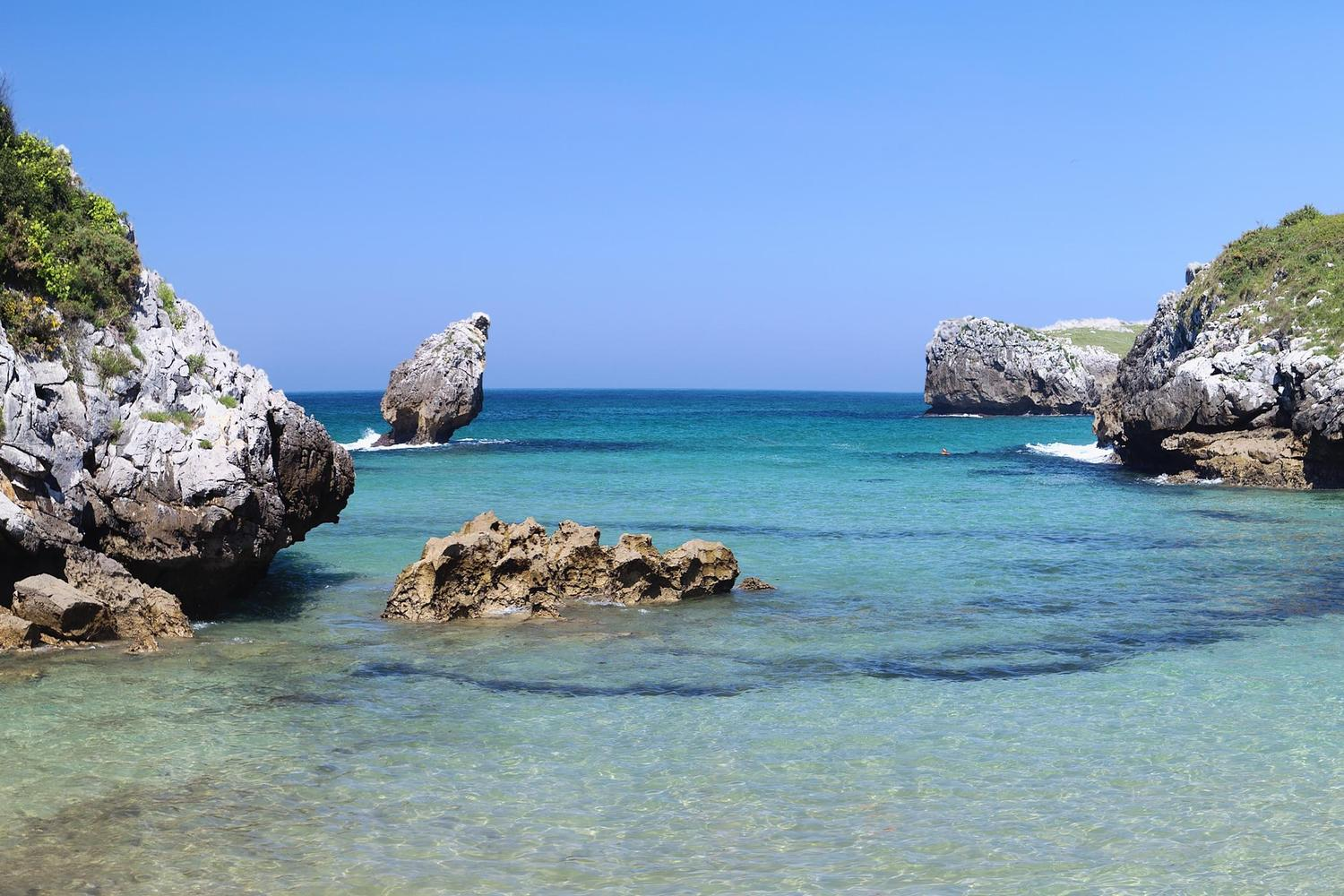 Beach near Llanes on the coast of the Picos de Europa