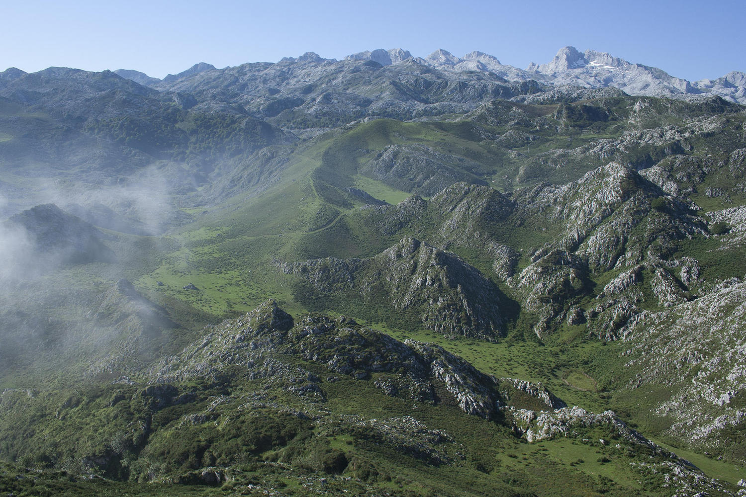 The high pastures of the Picos are home to shepherds and flocks in the summer months.