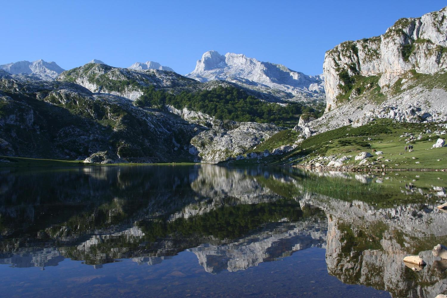 The beautiful lakes of Covadonga in Picos de Europa