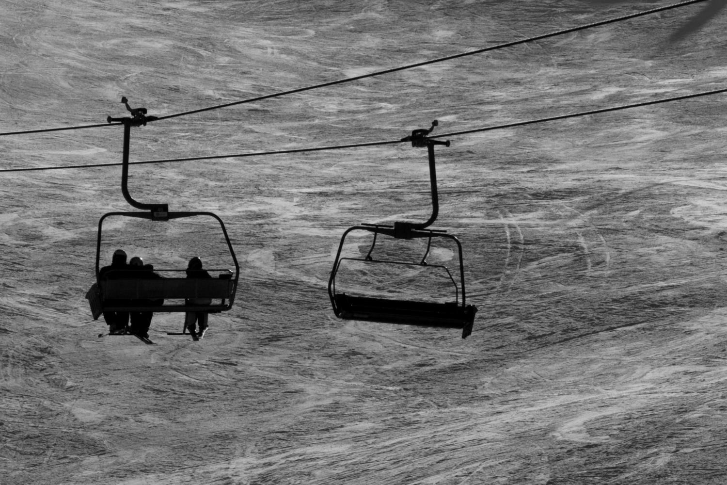Riding the lifts at Cerler