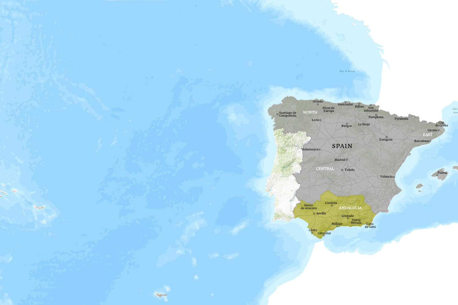 Spain When to Go Map - February