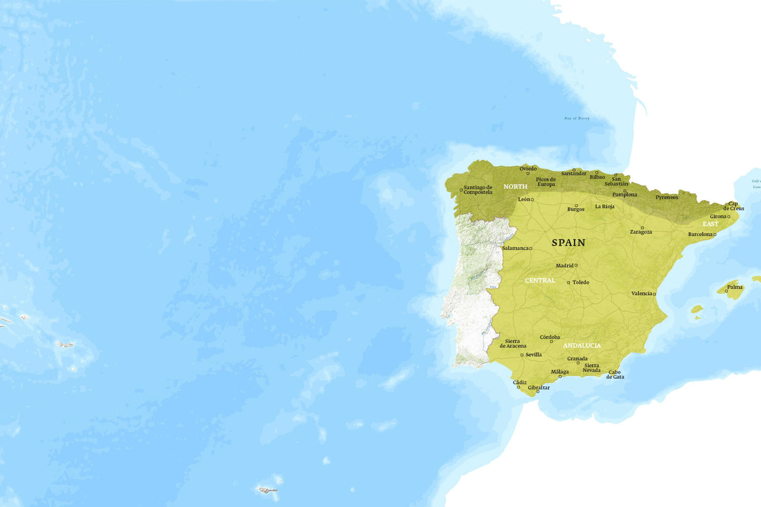 Spain When to Go Map - April