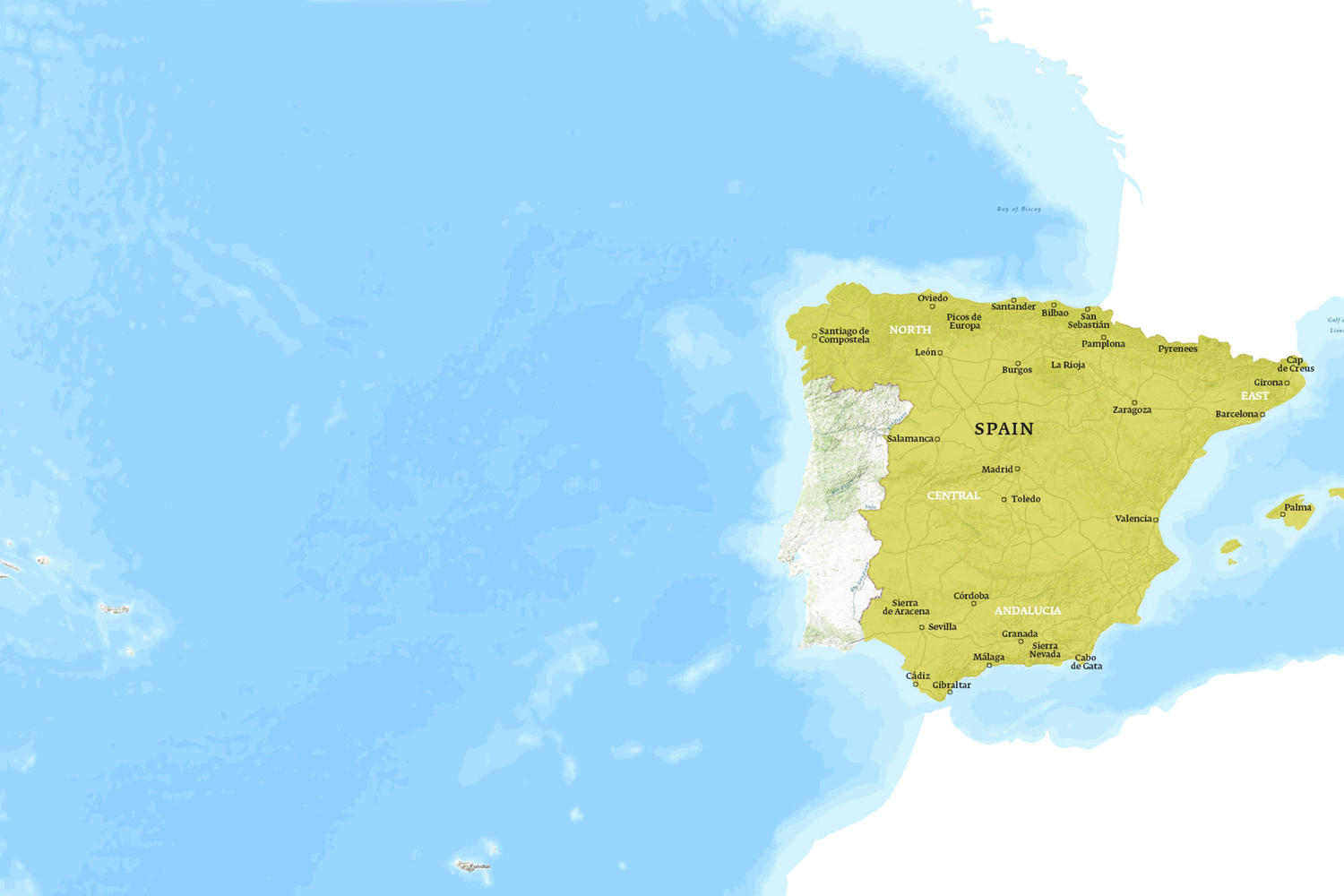 Spain When to Go Map - June