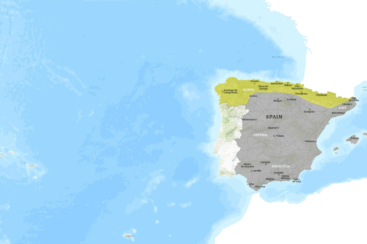 Spain When to Go Map - July