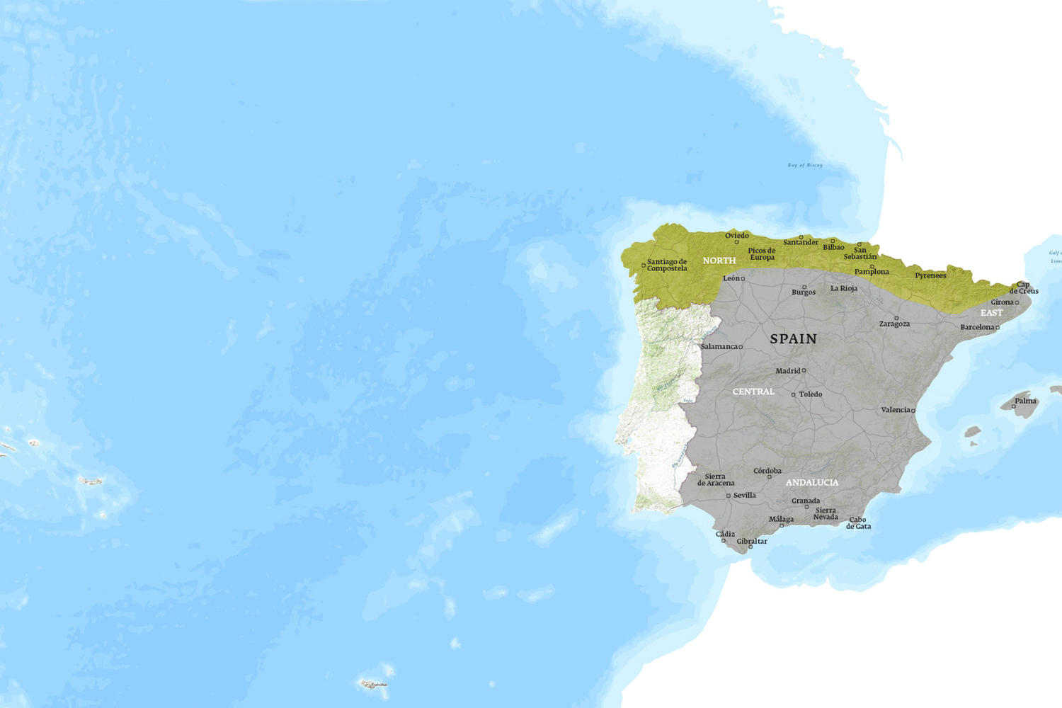 Spain When to Go Map - August