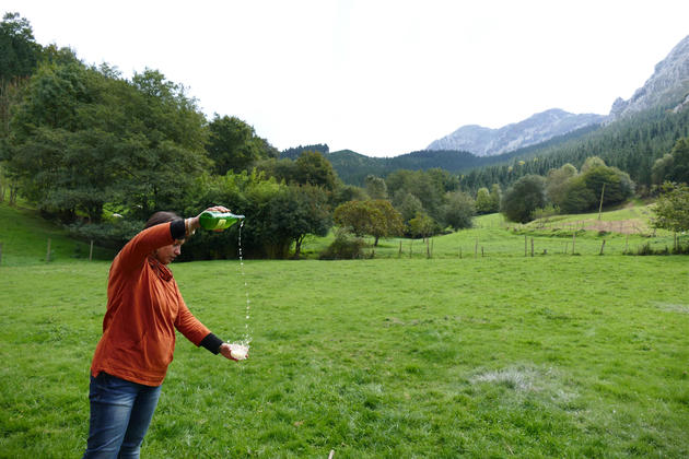 Spain-basque-country-shepherd-cheese-guide-pouring-cider