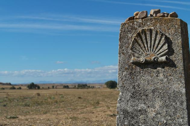Spain-camino-de-santiago-signs-on-camino