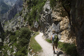 Spain-picos-de-europa-walking-along-cares-gorge
